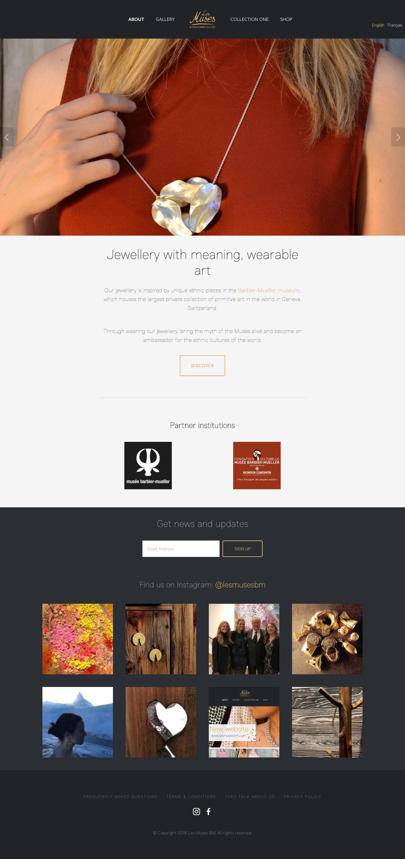Les Muses BM website screenshot